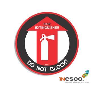 MightyLine Floor Sign - Fire Extinguisher