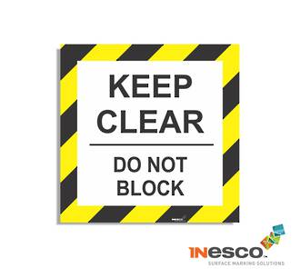 MightyLine Floor Sign - Keep Clear
