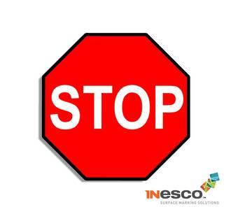MightyLine Floor Sign - Stop Sign